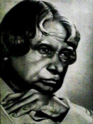 Vijay Kumar artist Ludhiana - Abdul Kalam Portrait
