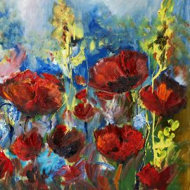 oilpaintingpictureofredspringpoppy